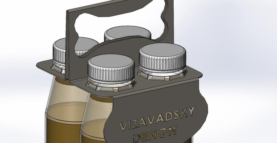 Entry #3 by vizavadsky for Design and Template for 4 bottle holder ...