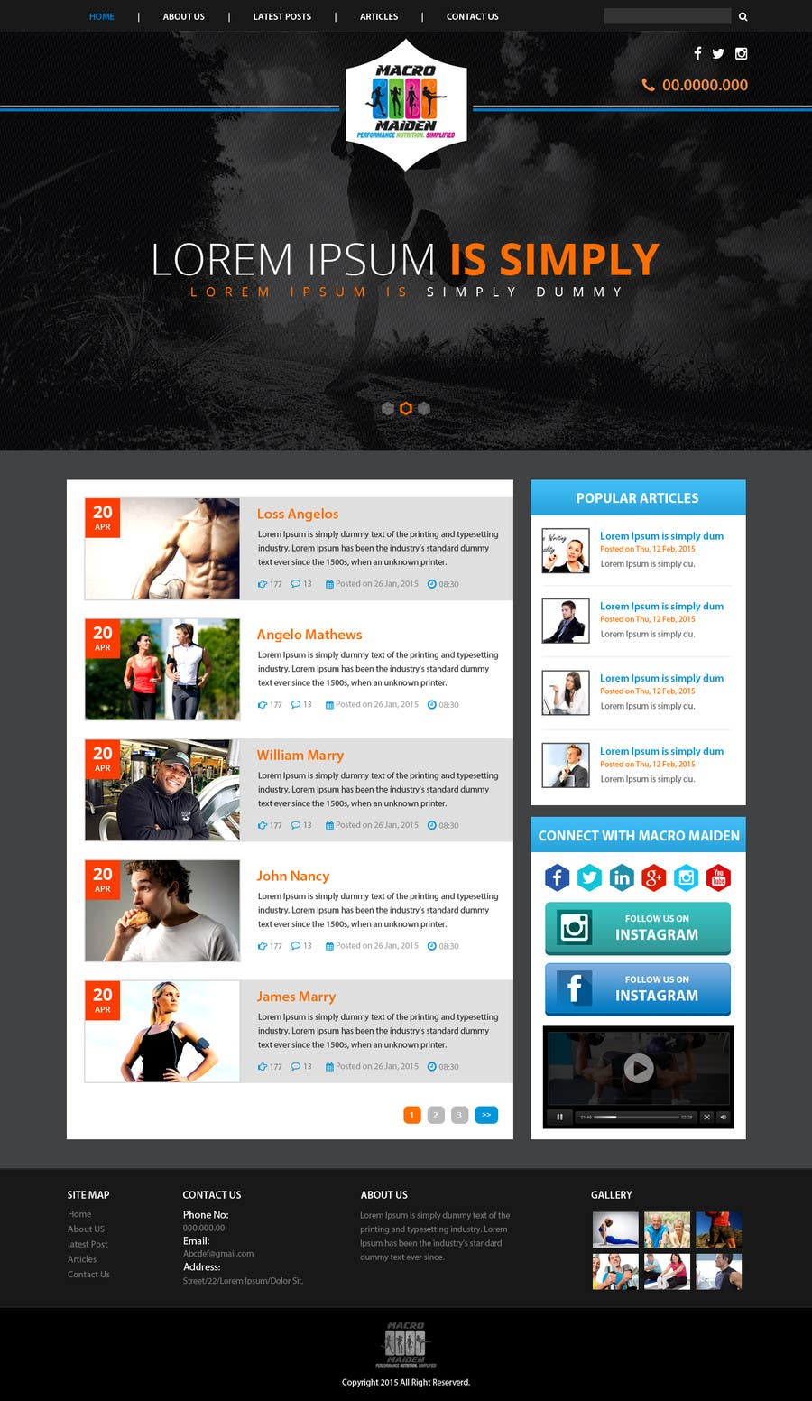 Contest Entry #33 for Design a Website Mockup for Fitness Health Site