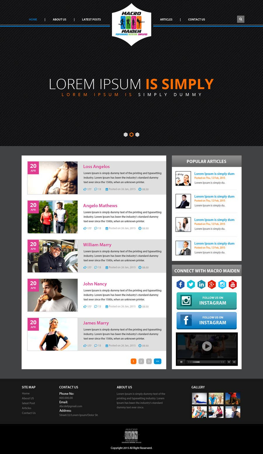 Contest Entry #37 for Design a Website Mockup for Fitness Health Site