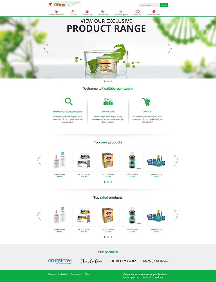 Proposition n°16 du concours Refresh our Home page design