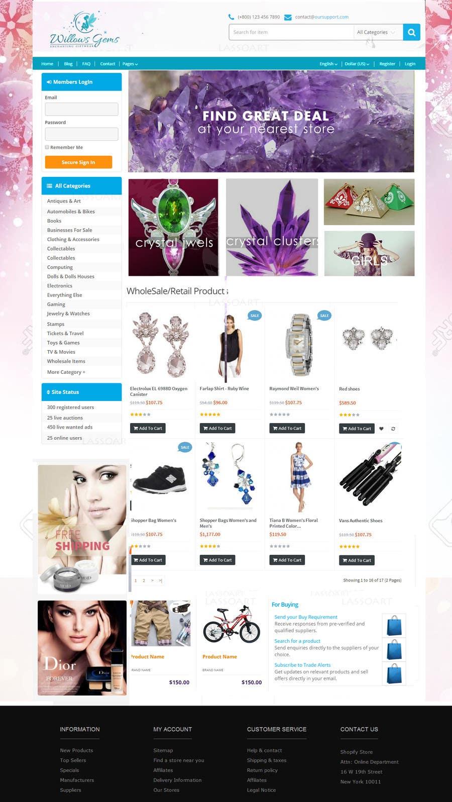 Konkurrenceindlæg #                                        16                                      for                                         Design a Ebay Store & Listing Template