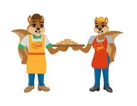 #35 for Design two squirrels cartoon characters for cookies brand by sunagoktuna