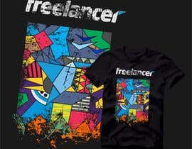 Nro 125 kilpailuun Create a t-shirt design that best embodies Freelancer's hip and fun nature käyttäjältä FredrikWei