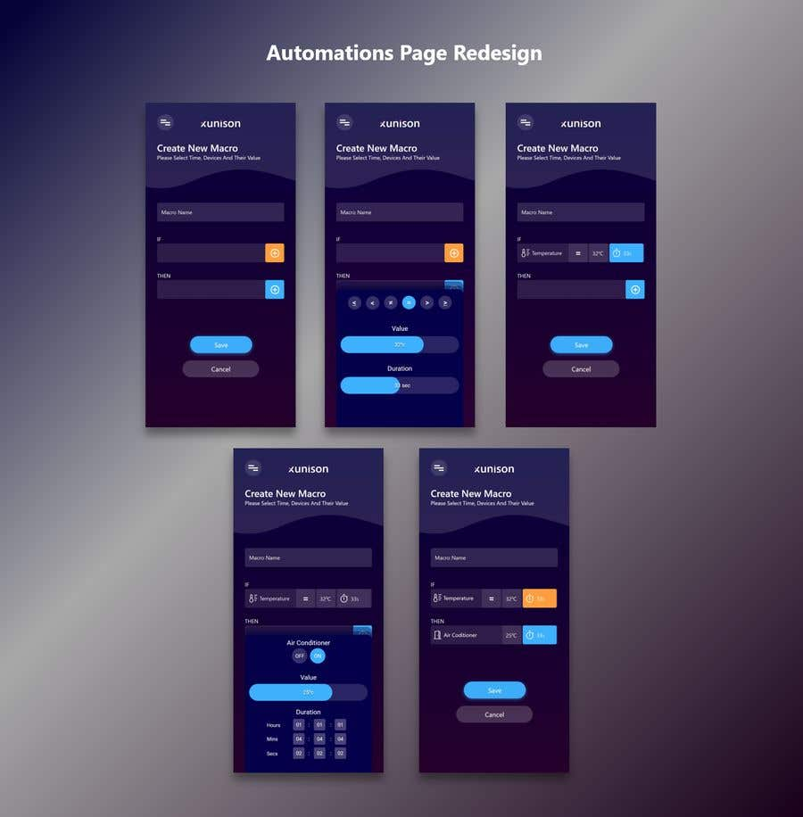 Konkurrenceindlæg #                                        5                                      for                                         Redesign our Automations page (Smart Home app) and make it easier to use