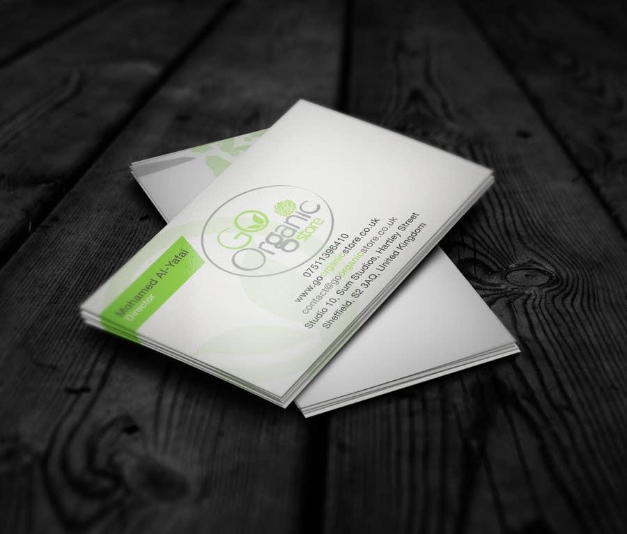 Konkurrenceindlæg #                                        7                                      for                                         Design some Business Cards for Go Organic Store