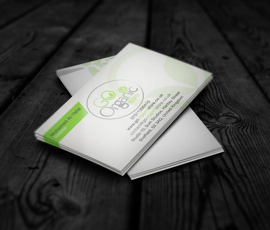 Contest Entry #                                        8                                      for                                         Design some Business Cards for Go Organic Store