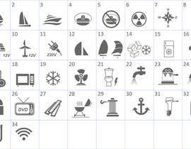 nº 8 pour Pictograms for a Boat Booking Website par Bervanince