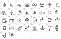 Proposition n° 15 du concours Graphic Design pour Pictograms for a Boat Booking Website