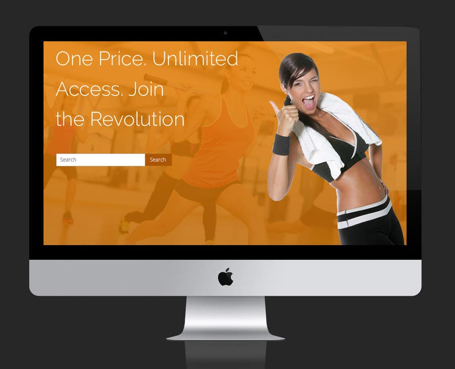 Contest Entry #                                        5                                      for                                         Design a Website Mockup for Fitness Business
