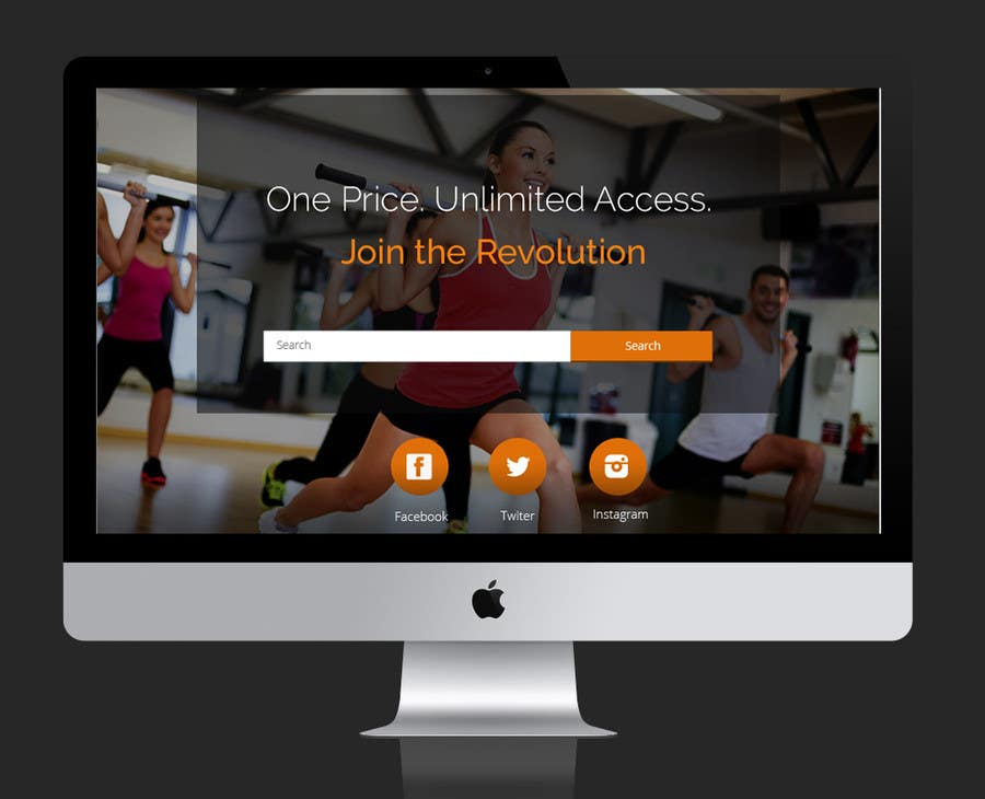 Konkurrenceindlæg #                                        21                                      for                                         Design a Website Mockup for Fitness Business