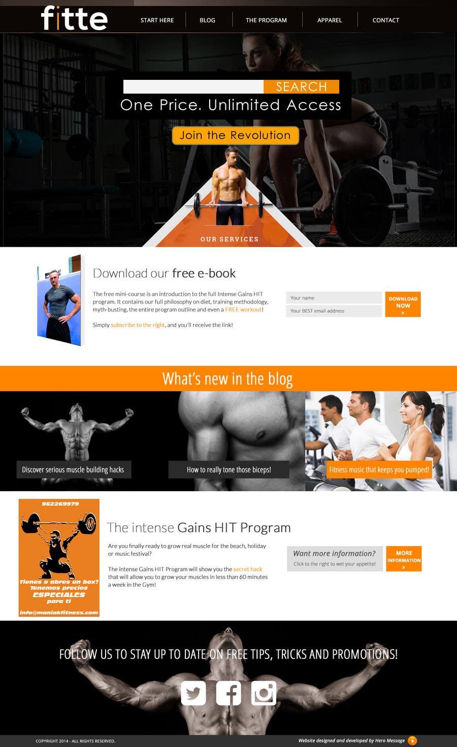 Konkurrenceindlæg #                                        20                                      for                                         Design a Website Mockup for Fitness Business