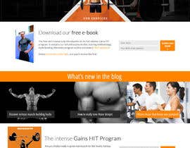#20 para Design a Website Mockup for Fitness Business por lassoarts