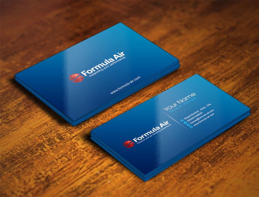 Kilpailutyö #6 kilpailussa Formula Air businesscards!