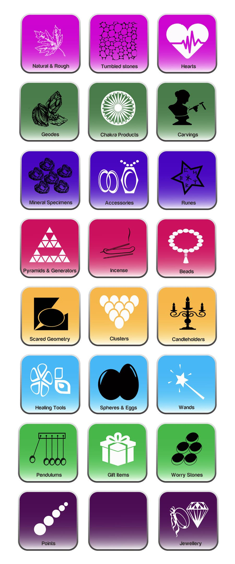 Contest Entry #                                        17                                      for                                         Design some Icons for Wholesale Crystal Website