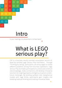 jarasaleem tarafından Design a Brochure for Lego Serious Play training packages -- 3 için no 5