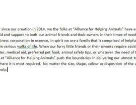 "#18 untuk Write a description of ""Alliance for Helping Animals"" oleh tkarlington"