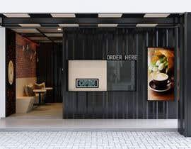 Nro 5 kilpailuun Interior and exterior Design for a coffee shop käyttäjältä ne5yalie