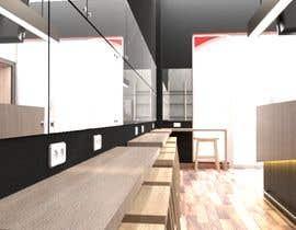 Nro 9 kilpailuun Interior and exterior Design for a coffee shop käyttäjältä hmers502