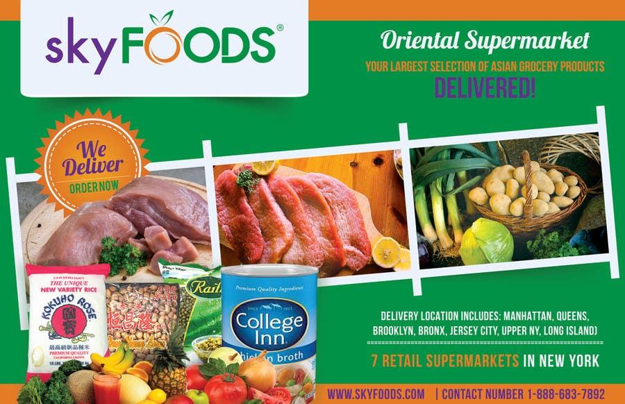 Konkurrenceindlæg #37 for Design a Flyer for asian online supermarket