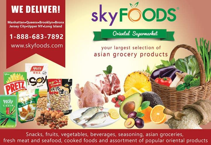 Konkurrenceindlæg #33 for Design a Flyer for asian online supermarket