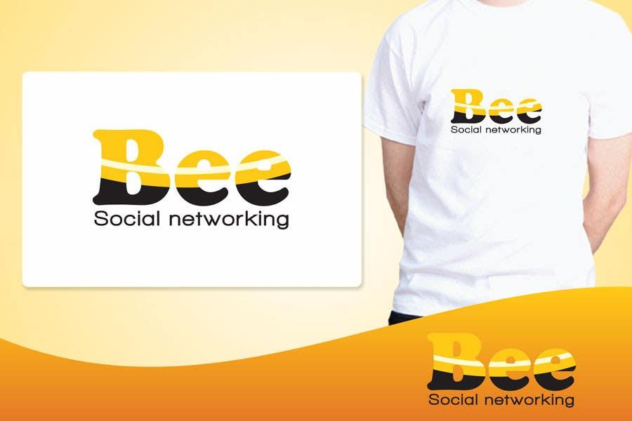Kilpailutyö #153 kilpailussa Logo Design for Logo design social networking. Bee.Textual.Illustrative.Iconic