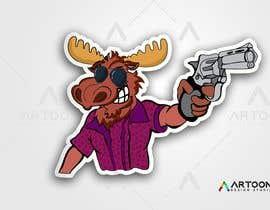 #112 para Undercover Moose Sticker por artoondesigns18