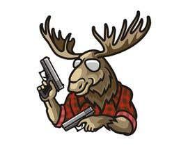 #122 para Undercover Moose Sticker por ura