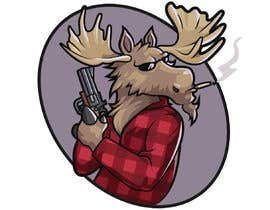 #86 for Undercover Moose Sticker by Cornman