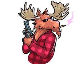 #88 para Undercover Moose Sticker por Cornman