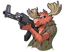 #130 para Undercover Moose Sticker por Cornman