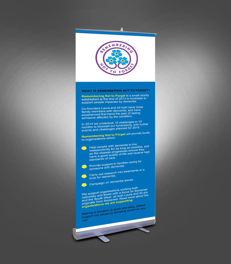 entry #14mondalstudio for design a standing banner for a small