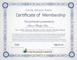 #15 for Design a membership certificate by tanzeelhussain