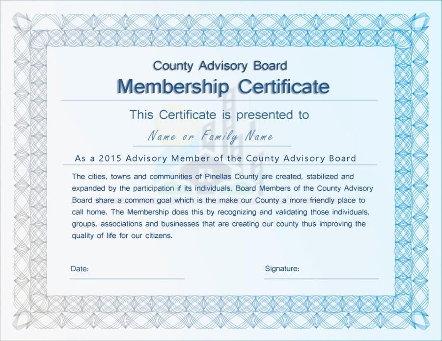 Contest Entry #                                        18                                      for                                         Design a membership certificate