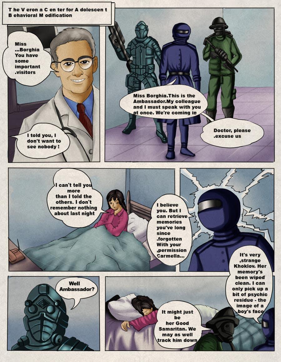 Penyertaan Peraduan #24 untuk Illustrate Page from Graphic Novel