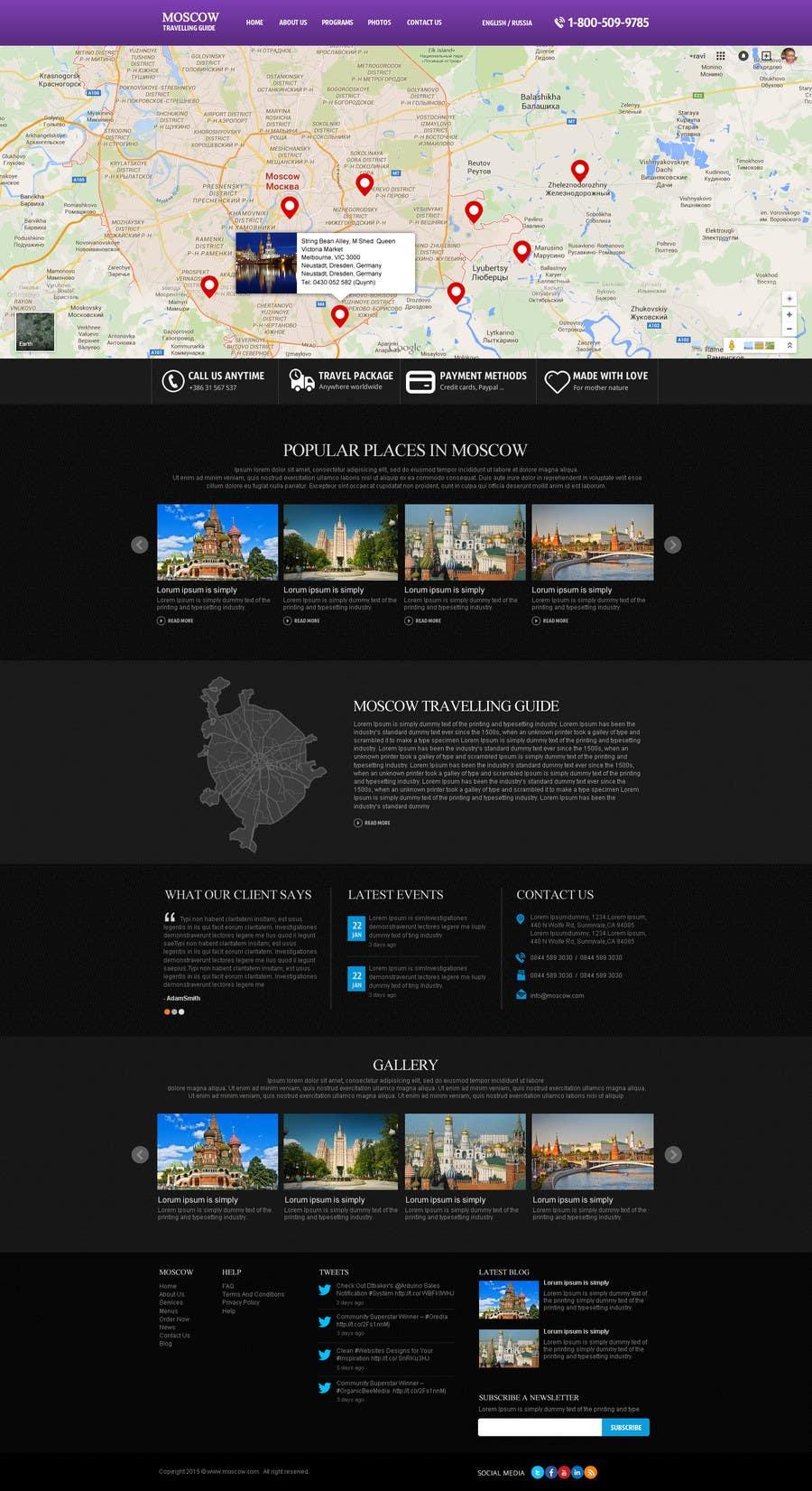 Konkurrenceindlæg #                                        9                                      for                                         Design a Website Mockup for City Travelling Guide