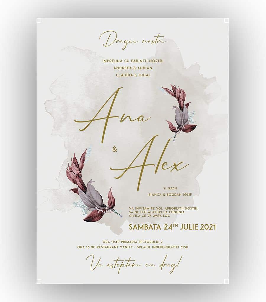 Kilpailutyö #                                        3                                      kilpailussa                                         Wedding invitation template