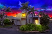 Turn 2 daytime real estate photos into beautiful twilights için Photoshop21 No.lu Yarışma Girdisi