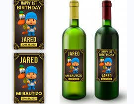#6 для Design a Wine label for center of table at Birthday and Baptism event от Zainali63601