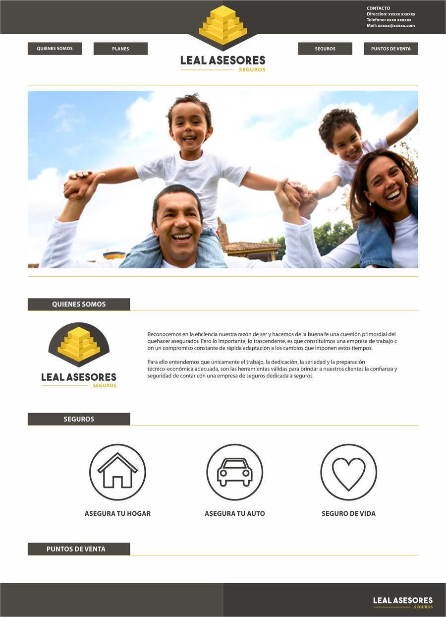 Contest Entry #36 for Desarrollar logo y pagina web sencilla para agente de seguros