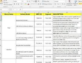 Nro 24 kilpailuun To create a database of all helmets companies selling in india  plans käyttäjältä yarafat1007