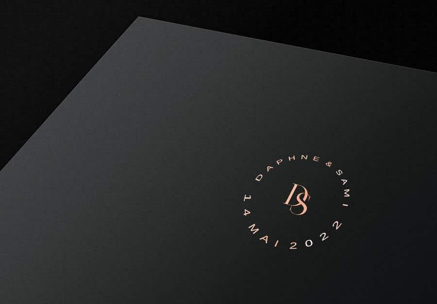 Penyertaan Peraduan #                                        20                                      untuk                                         Design modern and simple wedding  GOLD monogram logo for a WEDDING