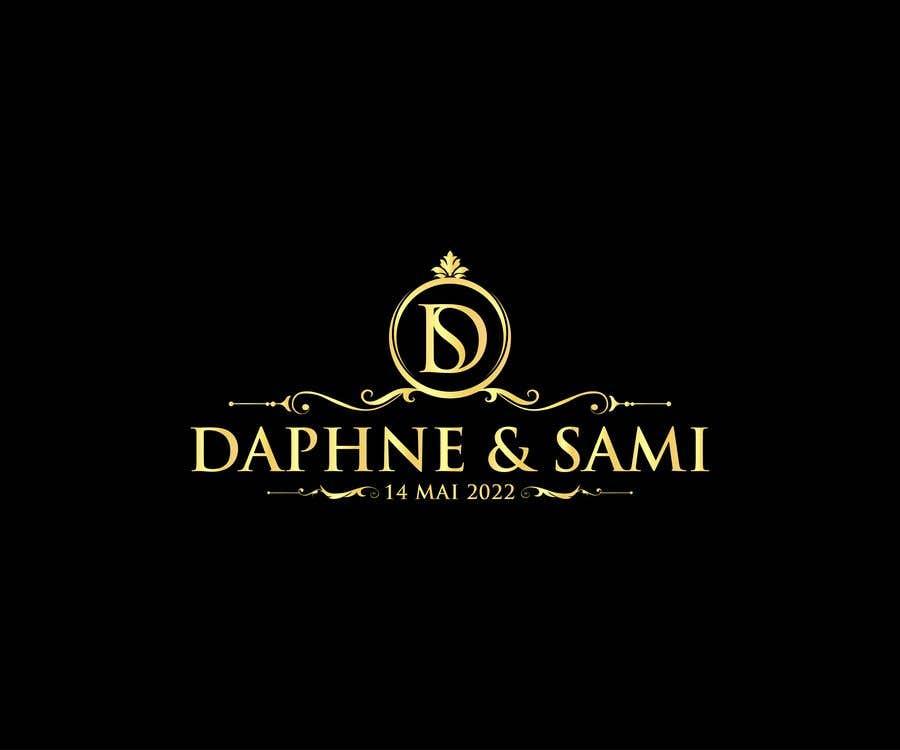 Penyertaan Peraduan #                                        134                                      untuk                                         Design modern and simple wedding  GOLD monogram logo for a WEDDING