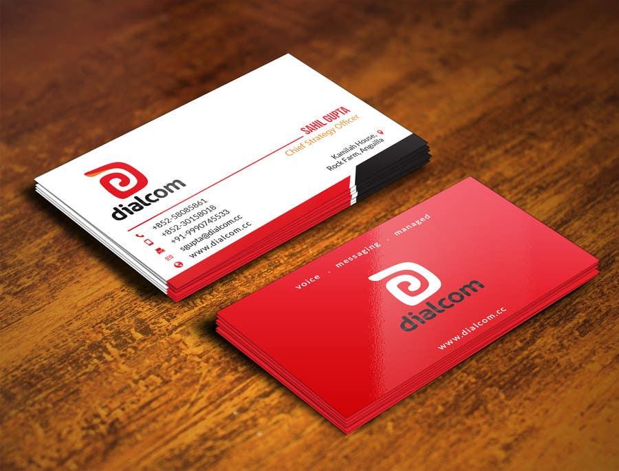 Konkurrenceindlæg #                                        135                                      for                                         Design some Business Cards for Dialcom Inc.