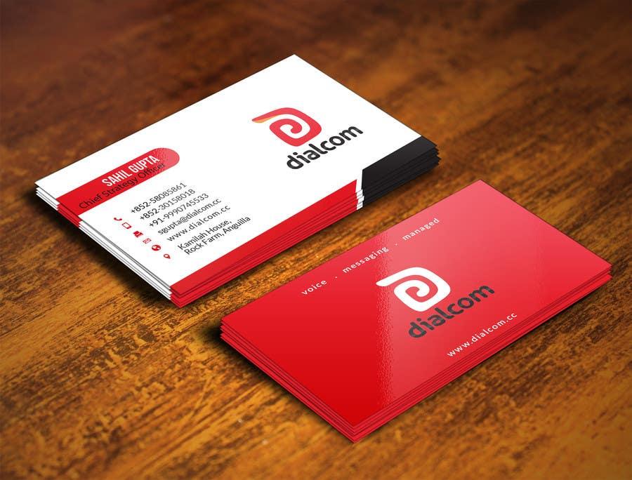 Konkurrenceindlæg #                                        137                                      for                                         Design some Business Cards for Dialcom Inc.