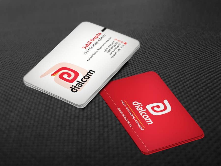 Konkurrenceindlæg #                                        134                                      for                                         Design some Business Cards for Dialcom Inc.
