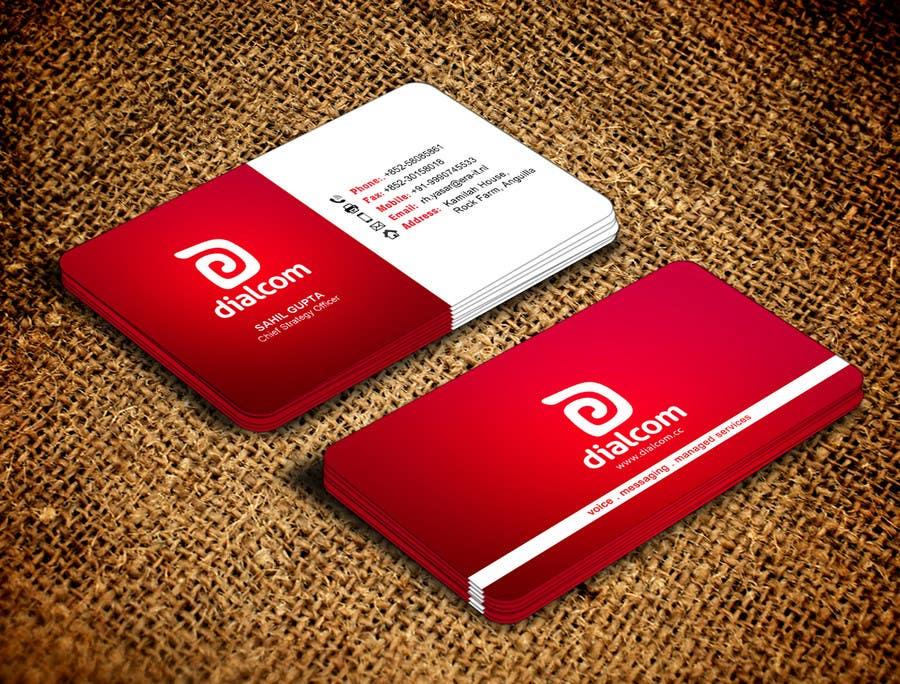 Konkurrenceindlæg #                                        111                                      for                                         Design some Business Cards for Dialcom Inc.