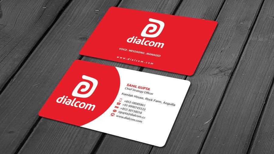 Konkurrenceindlæg #                                        10                                      for                                         Design some Business Cards for Dialcom Inc.