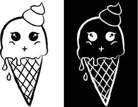 #30 para VERY SIMPLE JOB - Design a kawaii ice cream t-shirt print for infant/children's clothing brand por caro12345