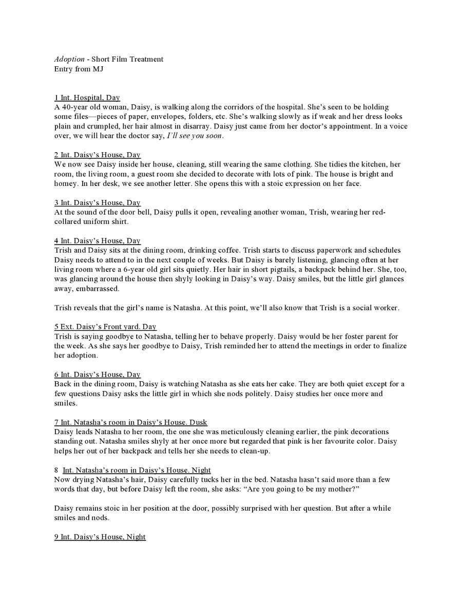 Konkurrenceindlæg #                                        8                                      for                                         Treatment for a short film