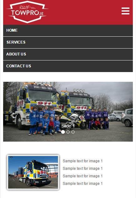 Kilpailutyö #27 kilpailussa Build a Website for TowPro.ie phase 1